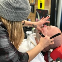 Men's Straight Razor Shave At Pinky's Chop Shop