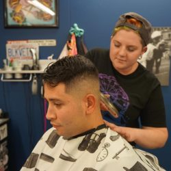 Haircuts For Men - High Fade At Pinky's Chop Shop