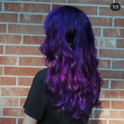 Vibrant Fantasy Hair Color - Purple and Pink At Pinky's Chop Shop