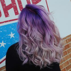 Women's Purple Ombre Haircolor At Pinky's Chop Shop
