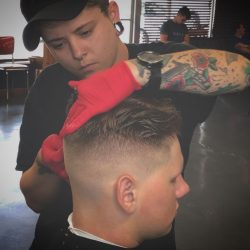 Men's Haircut With High Fade At Pinky's Chop Shop