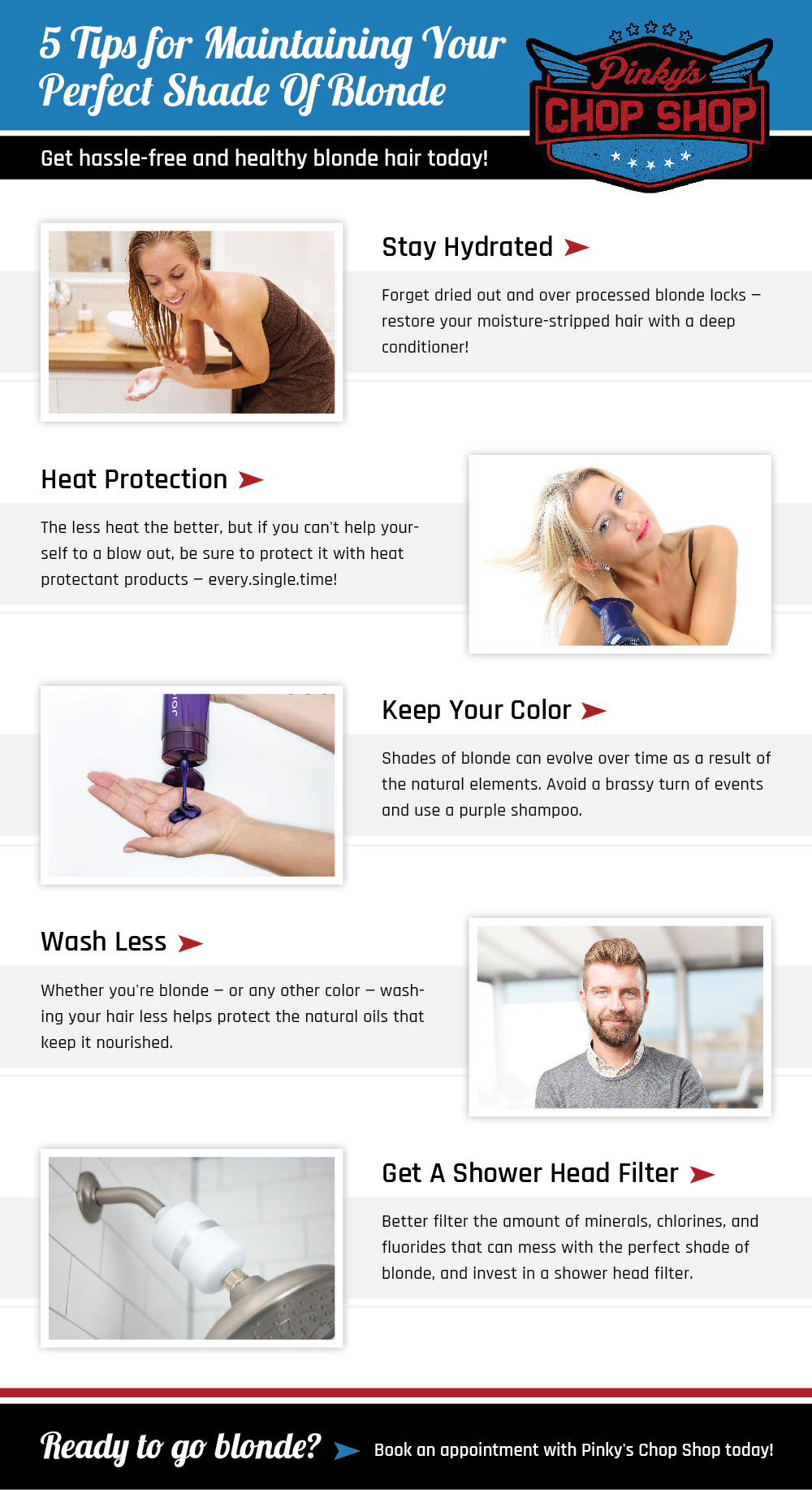 Hassle Free Blonde Hair Infographic