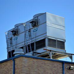 HVAC unit on top of building