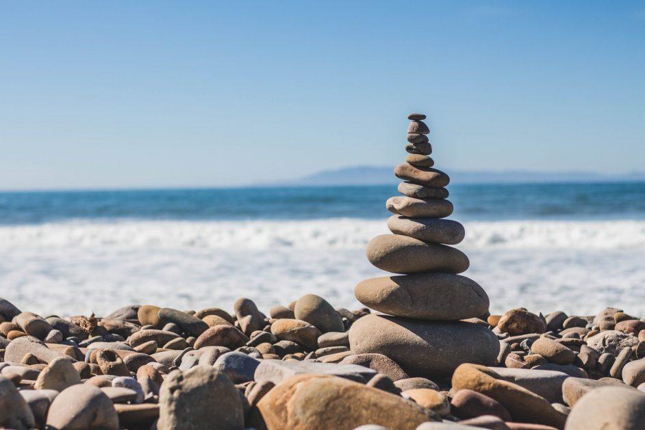 Stacked Rocks at Beach
