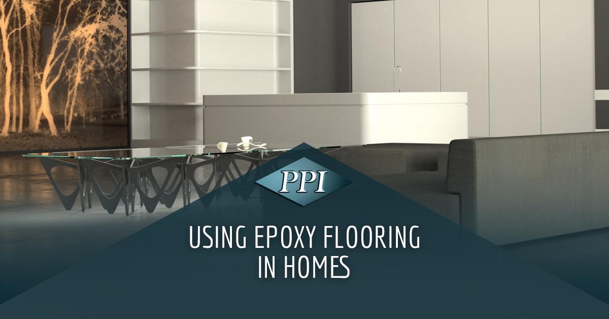 Modern home with sleek furniture and epoxy floors