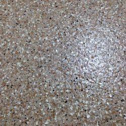 Brown speckled epoxy flooring