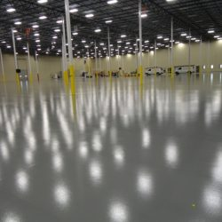 Urethane epoxy flooring in industrial facility
