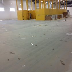 Preparing warehouse for epoxy floor installation