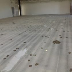 Blasted floor prepared for epoxy floor installation