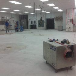 Preparing bakery floor for epoxy floor coating