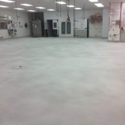 Unfinished concrete floor in industrial facility