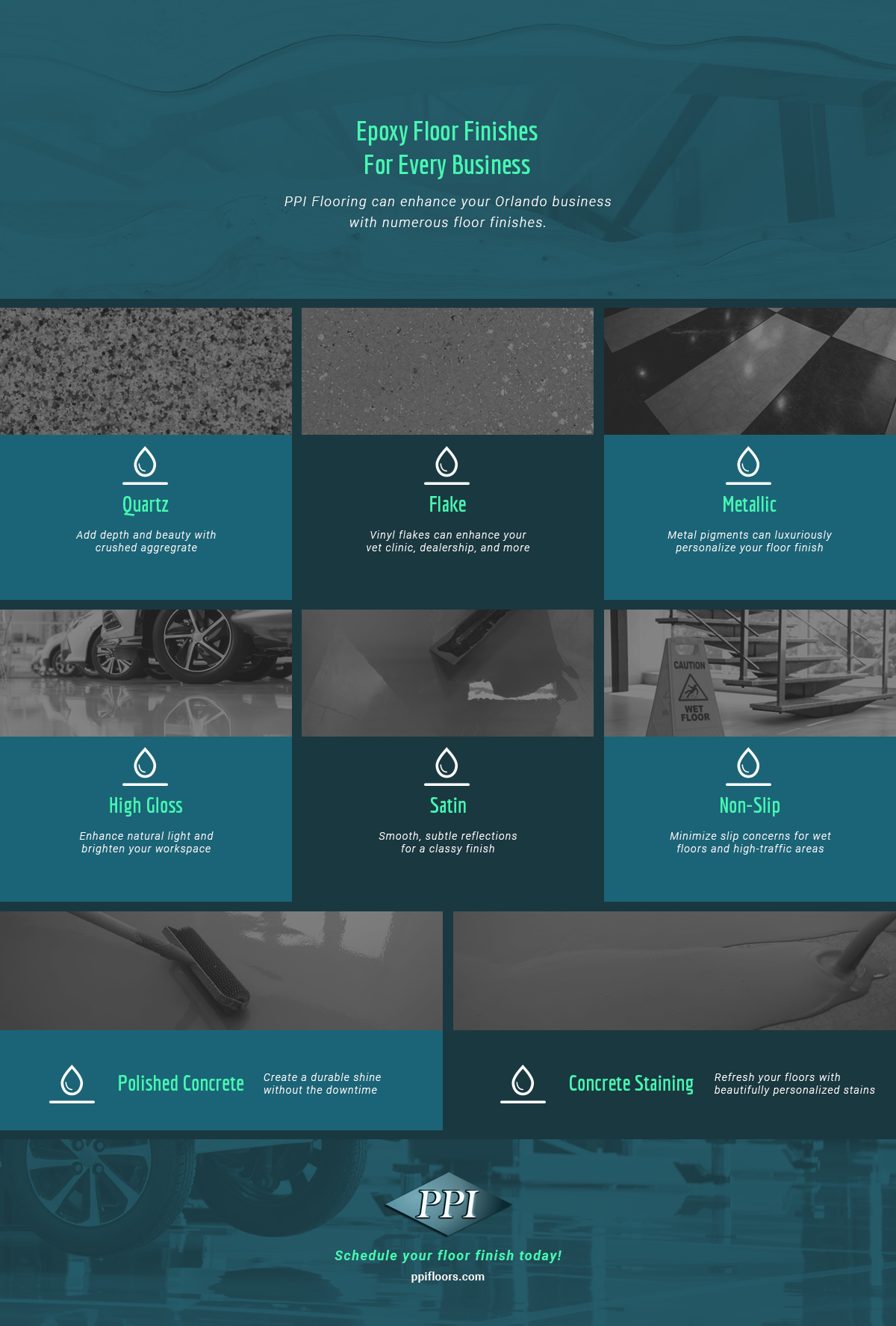 Infographic: Epoxy Floor Finishes for Every Business