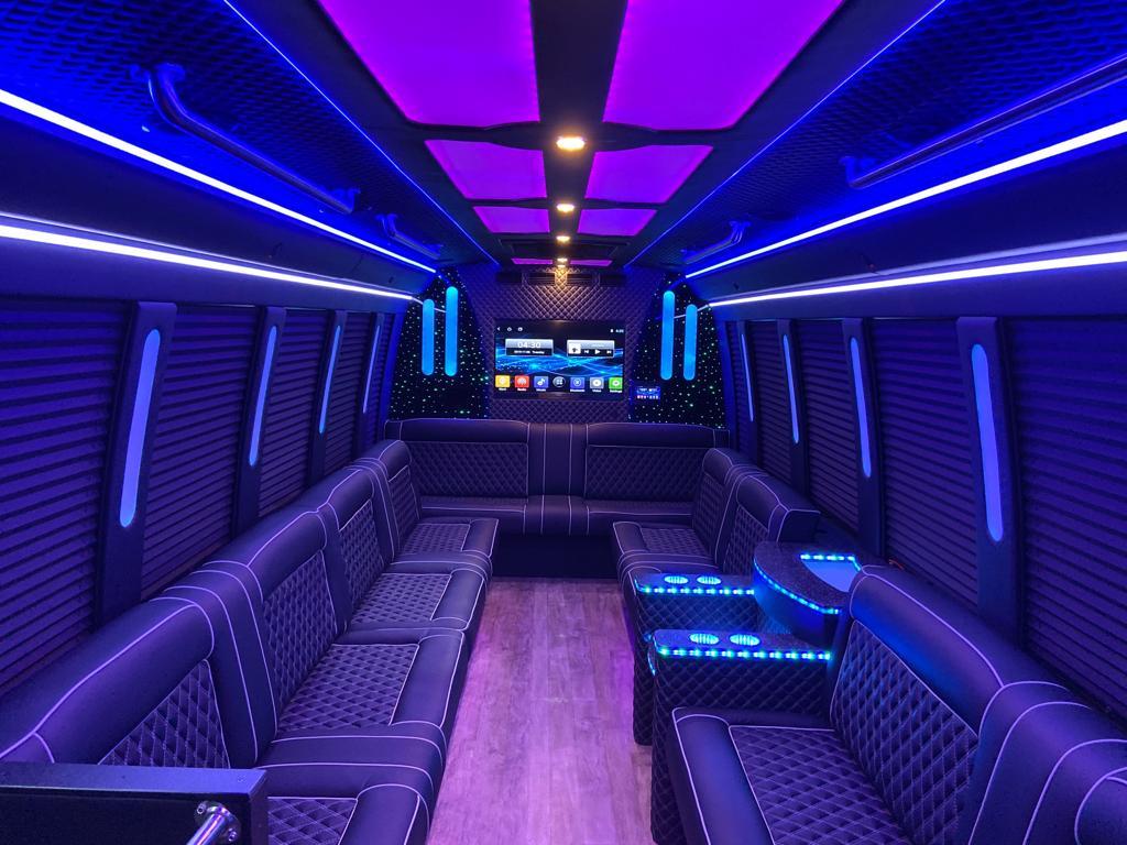 prom limo bus interior
