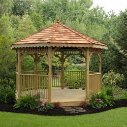 Gazebo by our landscaping company in Calgary