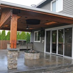 Patio cover by our landscaping company in Calgary