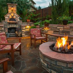 backyard fire kitchen