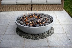 fire pit on patio calgary