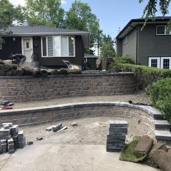 calgary backyard design pavers