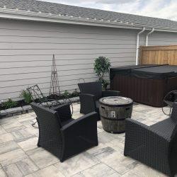 calgary backyard design interlock