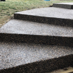 Concrete-steps-Broom-finished-smooth-exposed-stamped