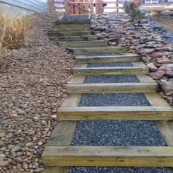 Wood steps: Pressure treated / Cedar wood / Exotic hardwood