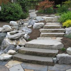 Natural stone steps calgary