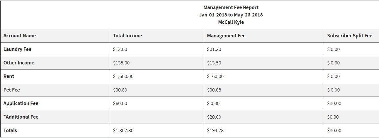 property-management-fee-report