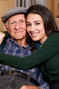 elderly-hug