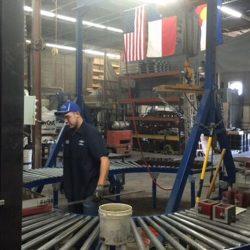 Inspecting new metal prototypes in Denver