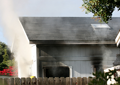 Picture of a house after a fire