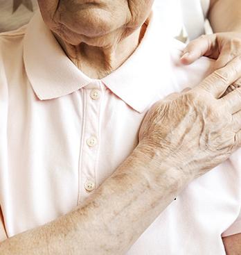 A Senior and His Caregiver
