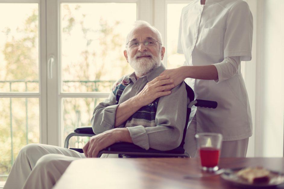 Caregiver and Senior Man