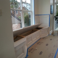 Crown molding installation in Seattle.