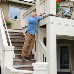 Deck painting services in Seattle.
