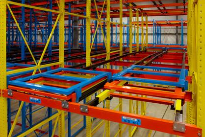Push-Back Storage Rack -Rack Builders Inc