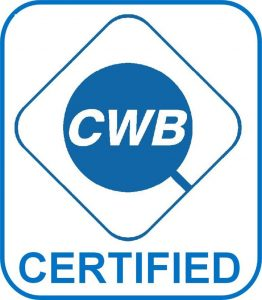 Canadian Welding Bureau Certification - Rack Builders Inc.