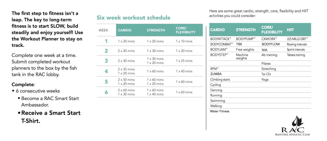 Smart Start Workout PlannerWeb