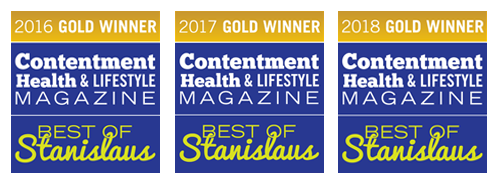 Best of Stanislaus 2017 Gold Winner of Contentment Health & Lifestyle magazine