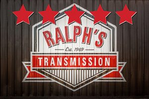 The Ralph's Transmission logo with 5 stars.