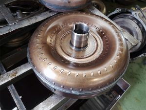 damaged torque converter in an automatic transmission