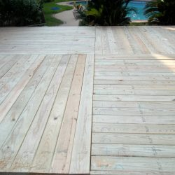 Large wooden deck with four distinct sections - Ready Decks