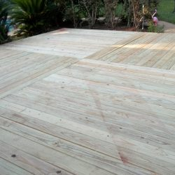 Large deck built with landscaping - Ready Decks