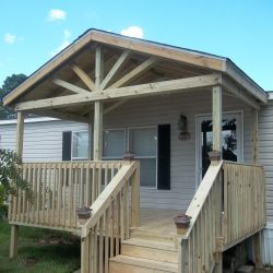 Gable porch with railing accents - Ready Decks