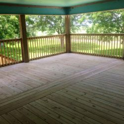 A large covered deck with view to the yard - Ready Decks