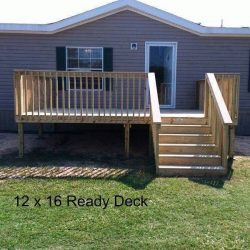 A 12x16 Ready Deck on a house - Ready Decks