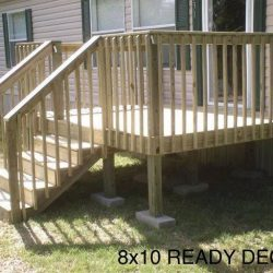 An 8x10 deck with stairs - Ready Decks