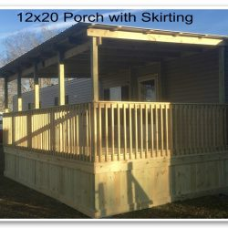 A 12x20 covered porch with wood skirting - Ready Decks