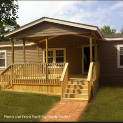 Front porch with gable detail - Ready Decks