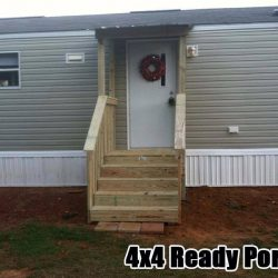 A 4x4 Ready Porch off of a mobile home - Ready Decks