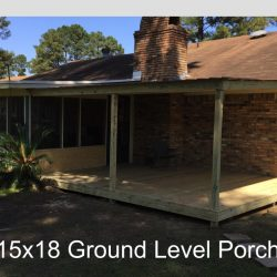 15x18 ground level porch from Ready Decks